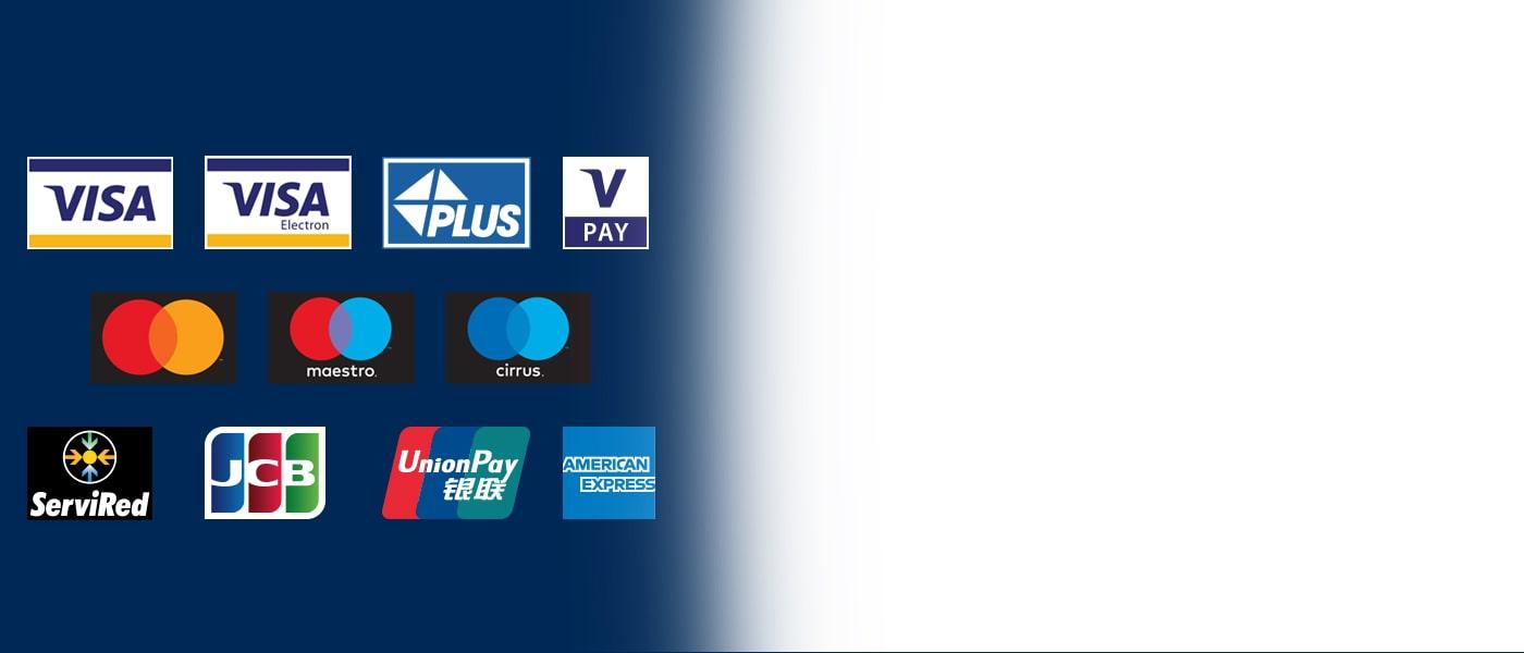 Los cajeros automáticos de Euronet aceptan las principales tarjetas